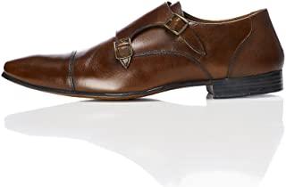 Zapato marrón doble hebilla
