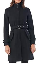 Abrigo negro hebilla