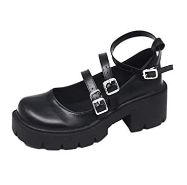 Zapato con hebilla suela gruesa