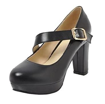 Zapato negro con hebilla